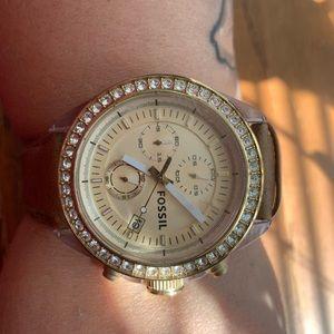 Fossil light brown watch